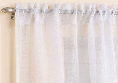 Gorgeous White Sparkle Glitter Voile Net Curtain Panel 7